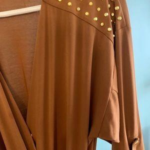 Michael Kors Pants - MICHAEL KORS Studded Jersey Jumpsuit brown size M